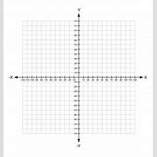 Blank X And Y Axis Cartesian Coordinate Plane Vector Image