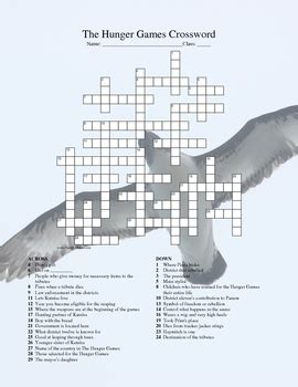 hunger games crossword  science  teachers pay