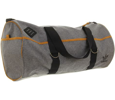 lyst adidas duffel large  gray  men