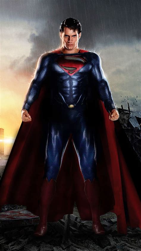 ultra hd superman of steel wallpaper for your mobile phone