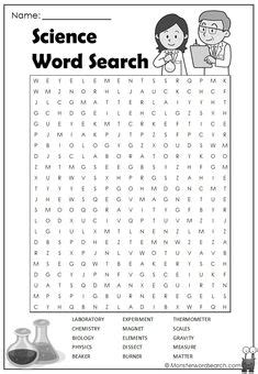 science vocabulary word search worksheet printable word search fruits and vegetables