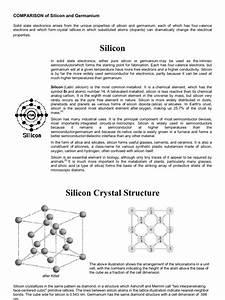 Comparison Of Silicon And Germanium