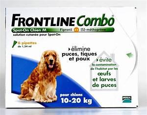 Puce De Chien : frontline combo chien moyen 10 20kg 6pip anti puce ~ Melissatoandfro.com Idées de Décoration