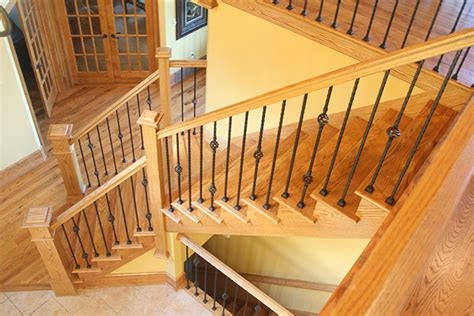 Wooden Stair Banister by Tread Confidently Zeller Interiors
