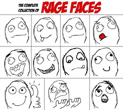 Rage Comic Meme Faces - a brief history of the rage comic the recesses of the internet and you