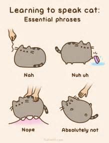 pusheen cat pusheen the cat on quot learning to speak cat