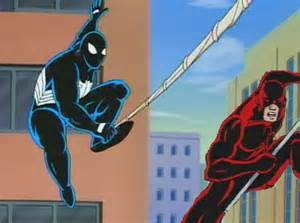 The Black Suit Spider-Man Cartoon