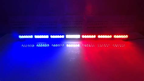 red white and blue lights lb1203 7 red white and blue led dash light led police