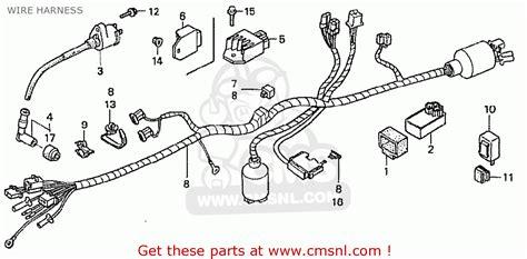 honda z50j1 monkey japan wire harness schematic partsfiche