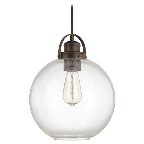 bronze globe pendant light capital lighting burnished bronze pendant light with globe