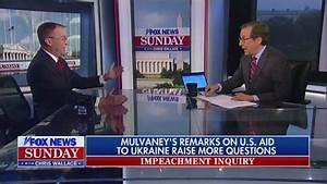 Fox Host To Mulvaney: 'Your Fingerprints Are All Over' Ukraine
