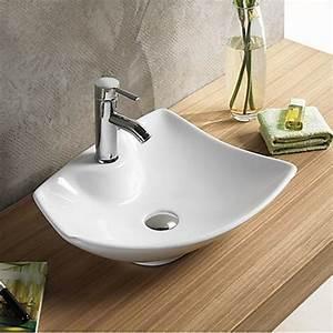 vasque et meuble vasque pour hotel et pmr With salle de bain design avec lavabo rond à poser
