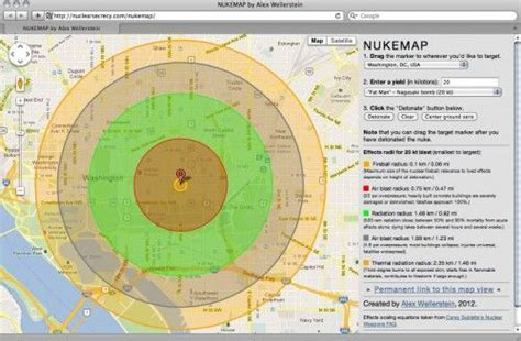 nukemap nuclear effects calculator that shows you the