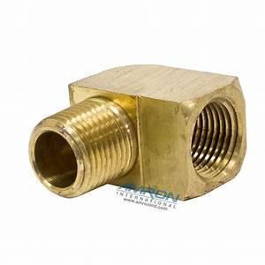 Parker Street Elbow 90 Degree 1  2 Inch Npt Brass 2202p