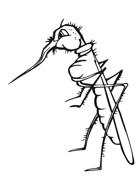Coloring Free by Free Printable Mosquito Coloring Pages For