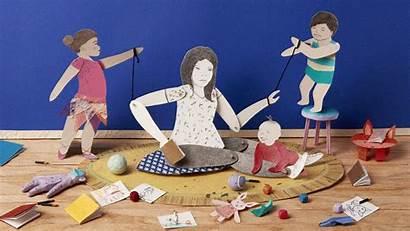 Motherhood Regretting Messy Done Illustration Paper Parent