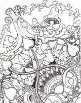 Coloring Mandala Pages Adult Drug Printable Abstract Books Line Print Diy Google Drawings sketch template