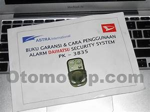 Manual Remote Alarm Pintu Mobil Avanza Xenia Lama