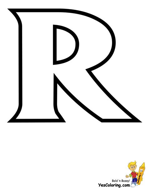 Coloring Letter R by Standard Letter Printables Free Alphabet Coloring Page