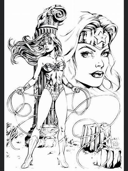 Wonder Woman Coloring Adult Superman Drawing Movie