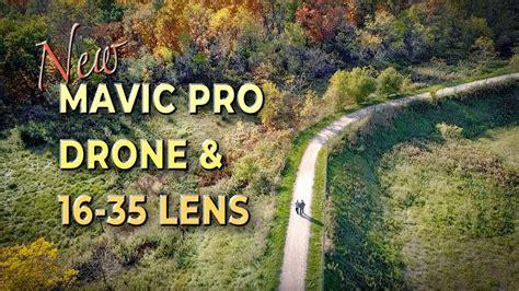 mavic pro drone  mm lens landscape stock