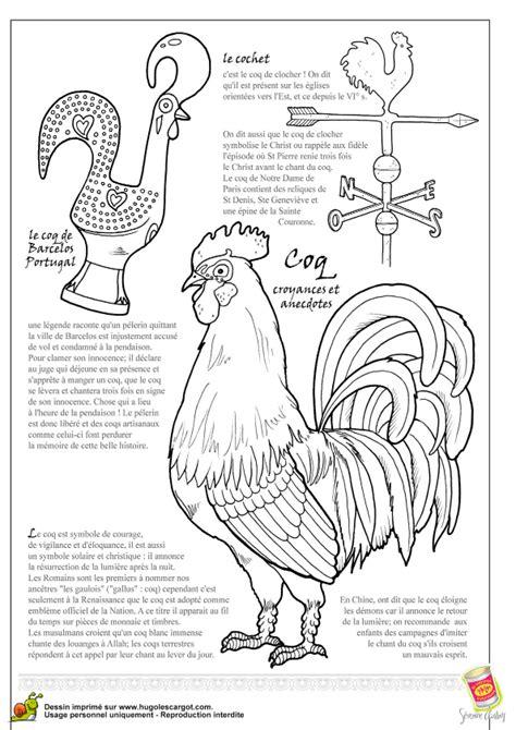 cuisiner un coq a colorier un cochet le coq de barcelos portugal et un