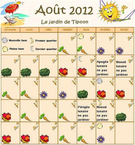 Calendrier Lunaire Plantation Pomme De Terre by Le Calendrier Lunaire Du Mois D Ao 251 T 2012