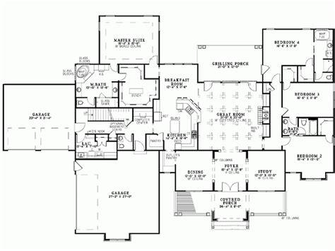 Bungalow House Plan Four Bedroom Square Feet Building