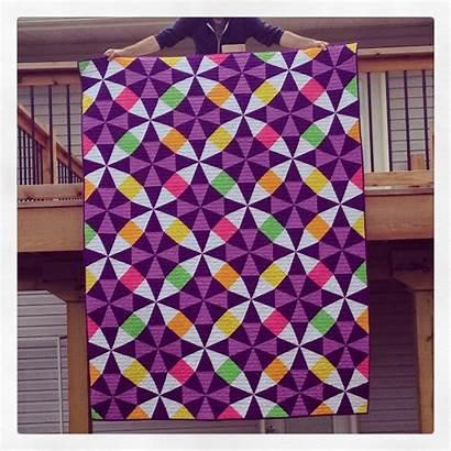 Kaleidoscope Quilt Quilts Quilting Patterns Purple Ruler