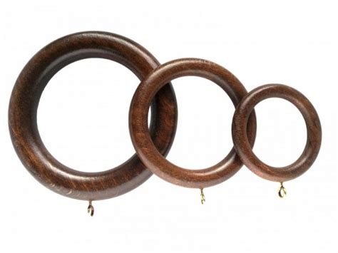 wooden curtain rings painted stained curtain