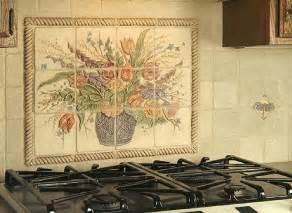 mural tiles for kitchen backsplash ceramic tile kitchen backsplash murals