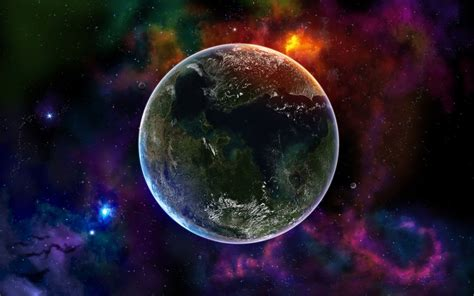 a colorful universe colorful space universe wallpapers hd wallpapers id