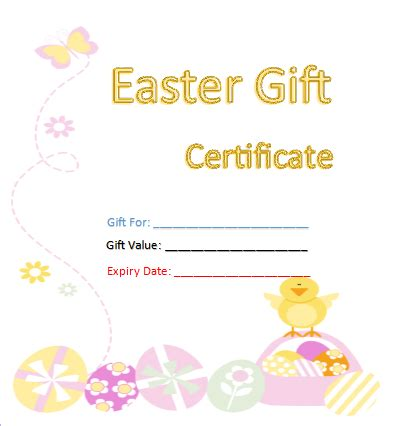 gift certificate templates  templates