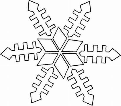 Coloring Pages Preschool Winter Snowflake Kindergarten Worksheets