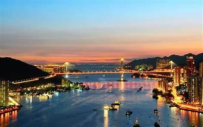 Bridge Background Wallpapers Cities Hong Kong Place