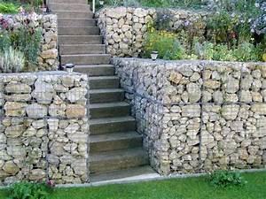 Mur En Gabion : jardin en pente id es d 39 am nagement et conseils plantation ~ Premium-room.com Idées de Décoration