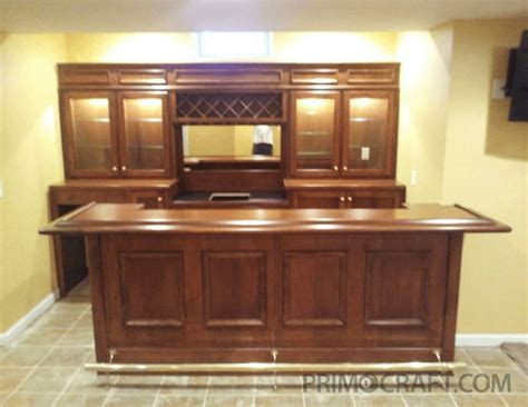 Home Built Bar by Basement On Wood Bars Electrical Wiring And