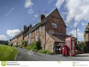 Quaint Charming British Village Scene Stock Image - Image ...