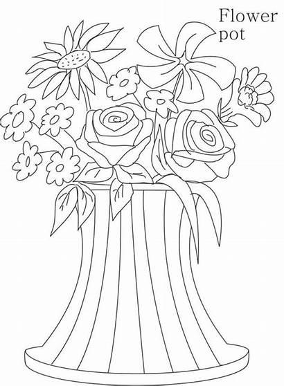 Coloring Vase Flower Unique