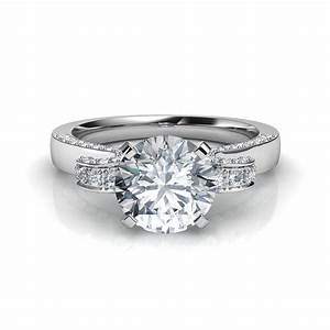 best of circle cut engagement rings With circular wedding rings