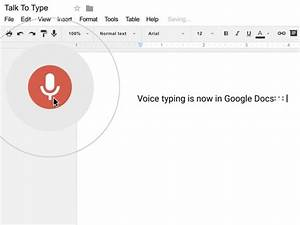 Google Docs Update Lets You Talk To Type - Newsy Story
