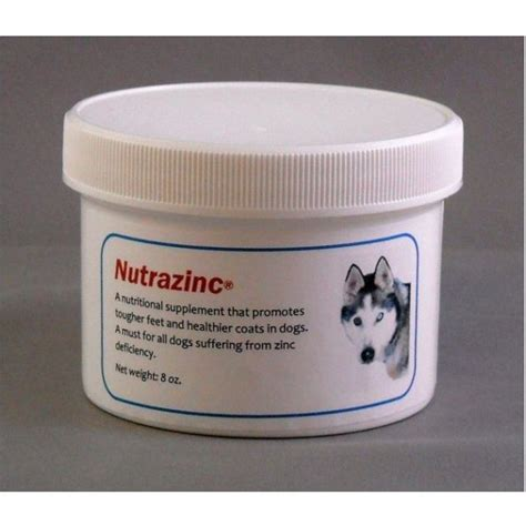 nutrazinc dog supplement great  dogs  zinc deficiency