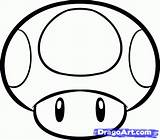 Mario Mushroom Draw Magic Brothers Step Drawing Super Coloring Pages Drawings Bros Mushrooms Dragoart Simple Easy Characters Cute Google Tattoo sketch template