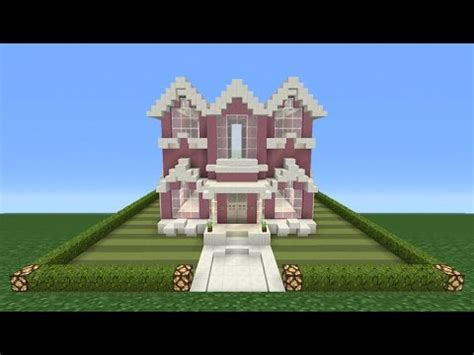 minecraft tutorial     pink mansion barbie house youtube