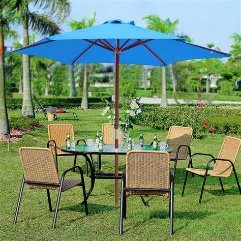 patio umbrellas on ft ribs patio wood umbrella wooden pole outdoor garden