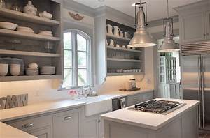Gray Kitchen Cabinet Paint Colors - Transitional - kitchen