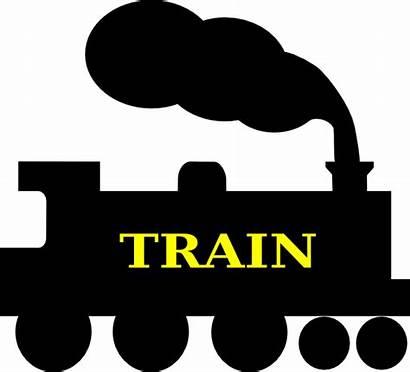 Train Silhouette Clipart Clip Vector Steam Track