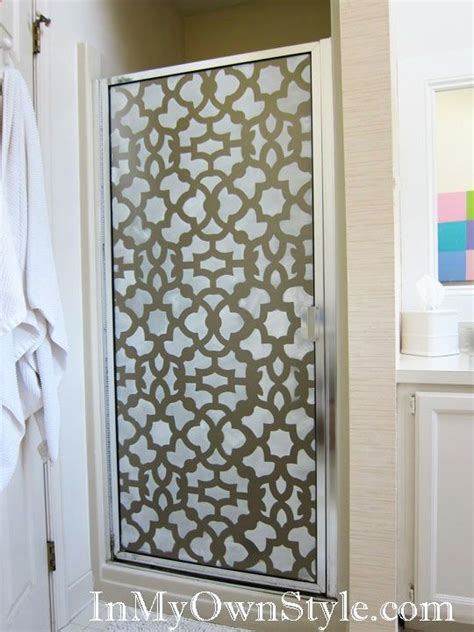 Shower Door For Shower Stall by Stenciling The Shower Stall Door Great Way To Spruce Up