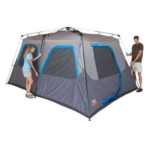 coleman 10 person instant cabin tent favored large and small cabin style family cing