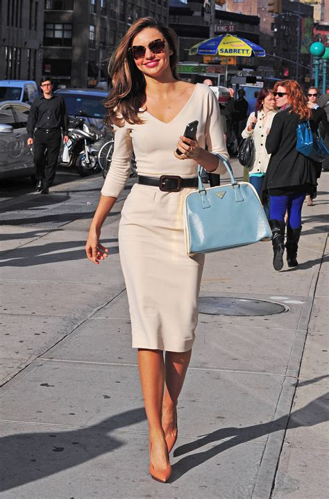 classic style miranda put a modern spin on classic style super glam white fitted dress clunky brown belt